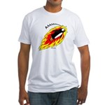 Flaming Flying Penguin Fitted T-Shirt