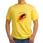Flaming Flying Penguin Yellow T-Shirt