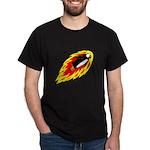 Flaming Flying Penguin Dark T-Shirt