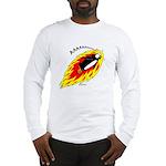 Flaming Flying Penguin Long Sleeve T-Shirt