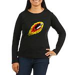 Flaming Flying Pe Women's Long Sleeve Dark T-Shirt