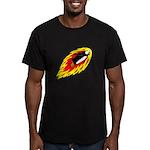 Flaming Flying Penguin Men's Fitted T-Shirt (dark)