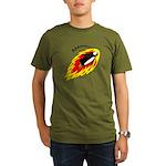 Flaming Flying Pengui Organic Men's T-Shirt (dark)