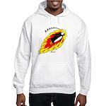 Flaming Flying Penguin Hooded Sweatshirt