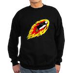 Flaming Flying Penguin Sweatshirt (dark)