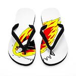 Flaming Flying Penguin Flip Flops