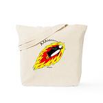 Flaming Flying Penguin Tote Bag