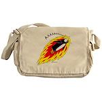 Flaming Flying Penguin Messenger Bag