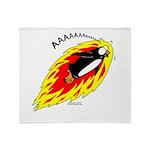 Flaming Flying Penguin Throw Blanket