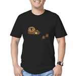 Sea Otter Men's Fitted T-Shirt (dark)