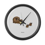 Sea Otter Large Wall Clock