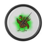 Gamma Infused Turkey Large Wall Clock