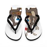 Reindeer Games Flip Flops