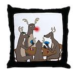 Reindeer Games Throw Pillow