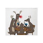 Reindeer Games Throw Blanket