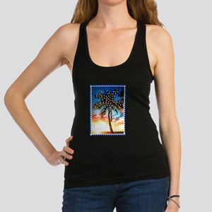Palm Tree Stamp at Sunset with Racerback Tank Top