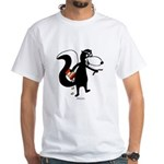Skunk Snacking White T-Shirt