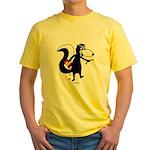 Skunk Snacking Yellow T-Shirt