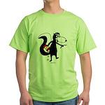Skunk Snacking Green T-Shirt