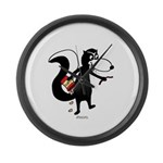 Skunk Snacking Large Wall Clock