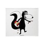 Skunk Snacking Throw Blanket