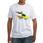 Skunk Sledding Fitted T-Shirt