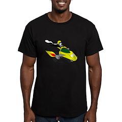 Skunk Sledding Men's Fitted T-Shirt (dark)