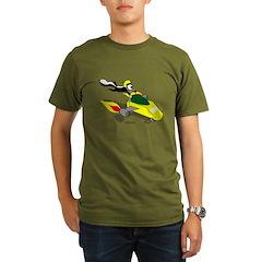 Skunk Sledding Organic Men's T-Shirt (dark)