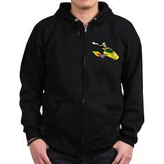 Skunk Sledding Zip Hoodie (dark)