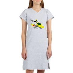 Skunk Sledding Women's Nightshirt