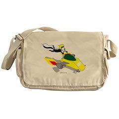 Skunk Sledding Messenger Bag