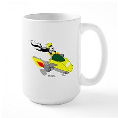 Skunk Sledding Large Mug
