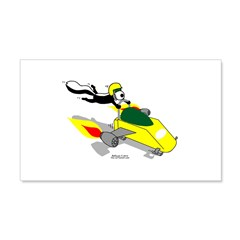 Skunk Sledding Wall Decal