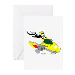 Skunk Sledding Greeting Cards (Pk of 20)