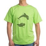 Shark Jumping Green T-Shirt