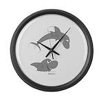 Shark Jumping Large Wall Clock