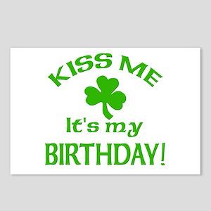 Kiss Me It's My Birthday St Pat's Day Postcards (P