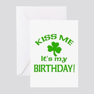 Kiss Me It's My Birthday St Pat's Day Greeting Car