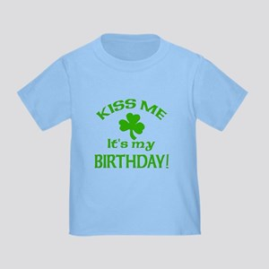 Kiss Me It's My Birthday St Pat's Day Toddl