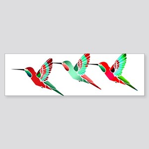 Red and Green Tropical Christmas Hu Bumper Sticker