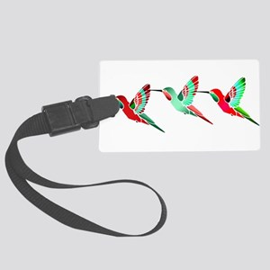 Red and Green Tropical Christmas Large Luggage Tag