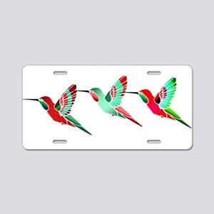 Red and Green Tropical Chri Aluminum License Plate
