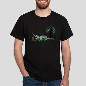 Christmas Alligator near Palm Tree with G T-Shirt