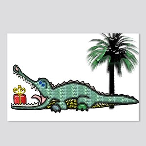 Christmas Alligator near Postcards (Package of 8)