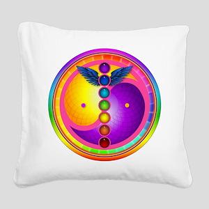 chakra_mandala Square Canvas Pillow