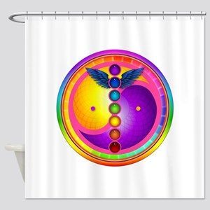 chakra_mandala Shower Curtain