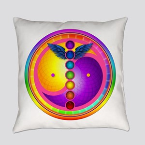 Chakra_mandala Everyday Pillow