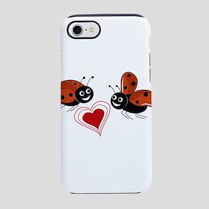 heart with ladybug iPhone 8/7 Tough Case