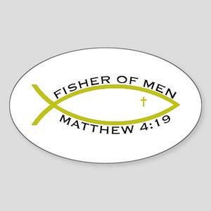 Fisher (YLW) - Oval Sticker