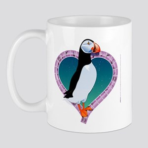Valentine's Day Puffin Mug